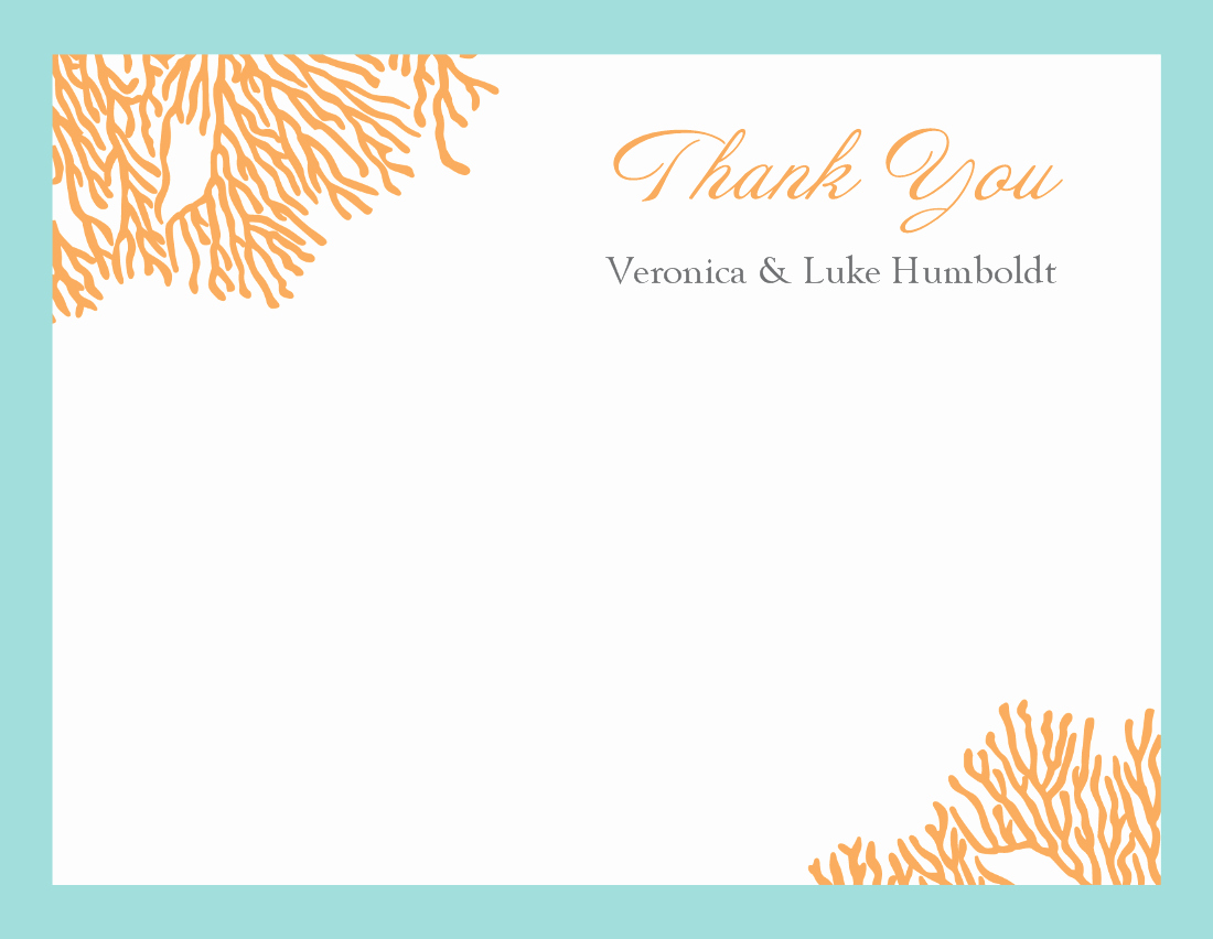 Thank You Note Cards Template Lovely Thank You Template
