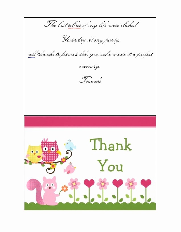 Thank You Note Cards Template Luxury 30 Free Printable Thank You Card Templates Wedding