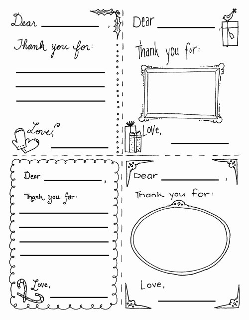 Thank You Note Cards Template New 36 Best Printable Kids Thank You Notes Images On Pinterest