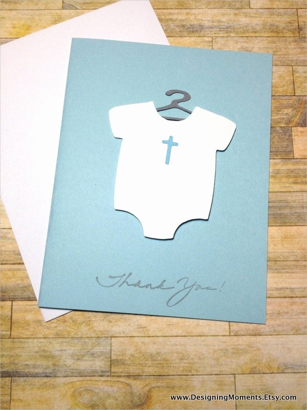 Thank You Note Cards Template Unique 10 Baptism Thank You Cards Psd Ai Eps