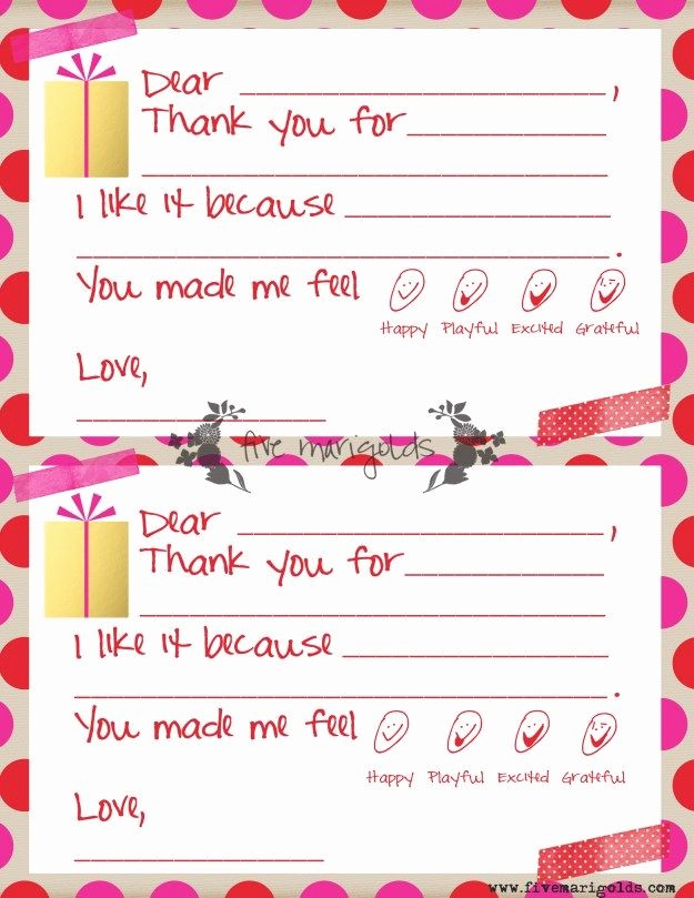 Thank You Note Cards Template Unique 37 Best Printable Kids Thank You Notes Images On Pinterest
