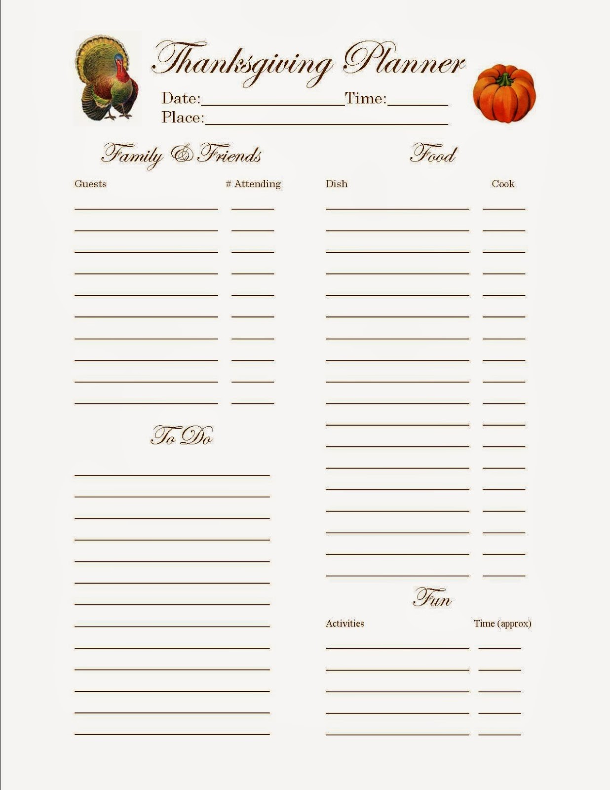 Thanksgiving Sign Up Sheet Printable Fresh Sloppy Kisses