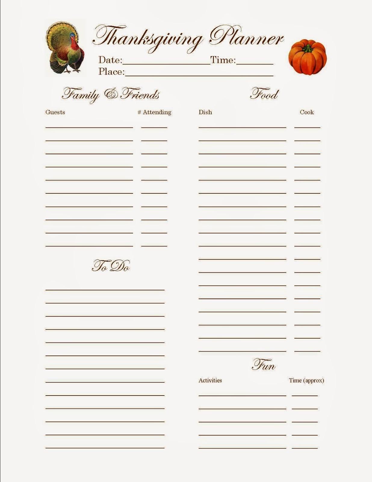 Thanksgiving Sign Up Sheet Printable Fresh Sloppy Kisses