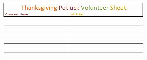 Thanksgiving Sign Up Sheet Printable Inspirational Thanksgiving Dinner Sign Up Sheet Template – Festival