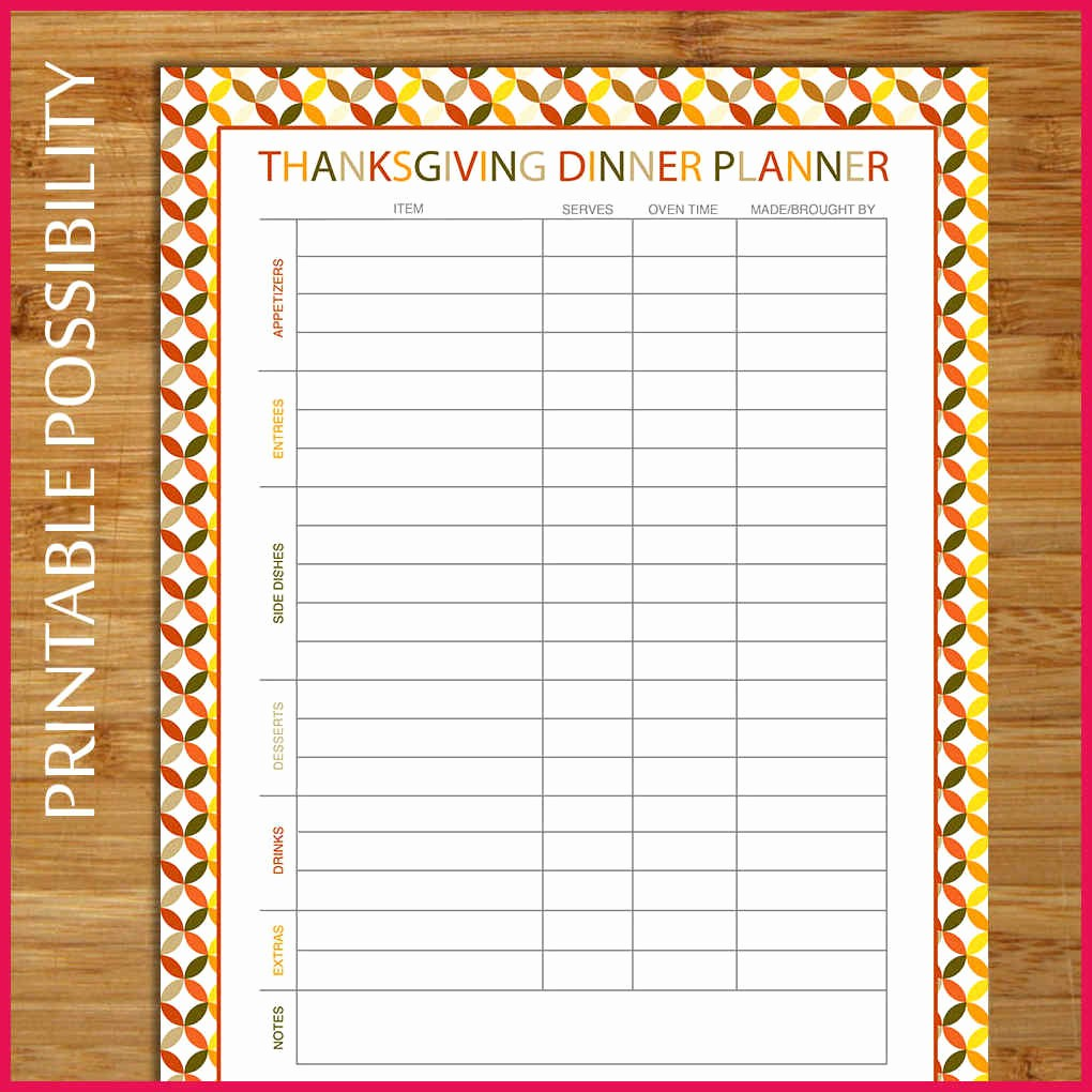 Thanksgiving Sign Up Sheet Printable Inspirational Thanksgiving Potluck Sign Up