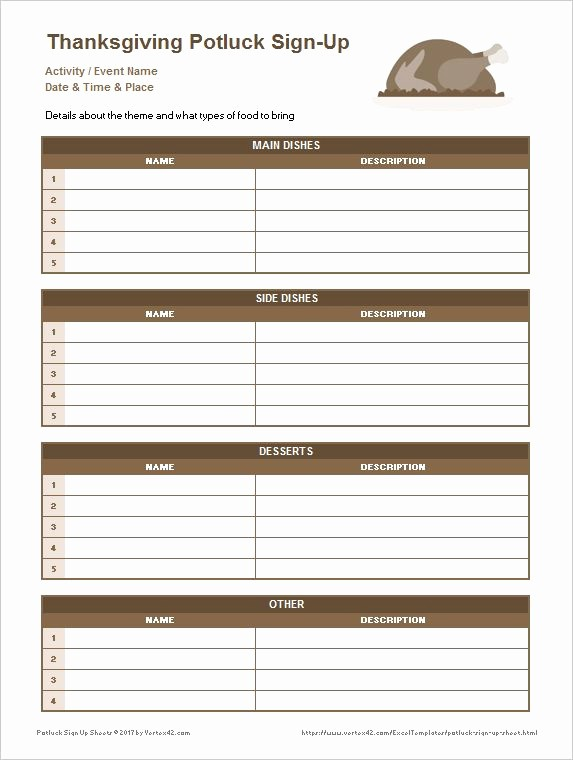Thanksgiving Sign Up Sheet Printable New 7 Best Potluck Sign Up Sheet Images On Pinterest
