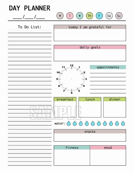 The Office Daily Calendar 2017 Awesome Day Planner Printable Editable Daily Planner Weekly