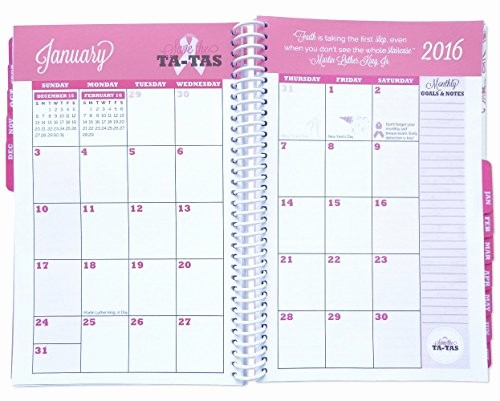 The Office Daily Calendar 2017 Beautiful Bloom Daily Planners 2016 17 Academic Year Save the Ta Tas