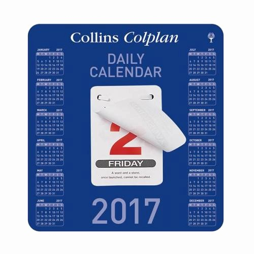 The Office Daily Calendar 2017 Best Of Collins Colplan Cdbc 2017 Daily Block Calendar Tear F