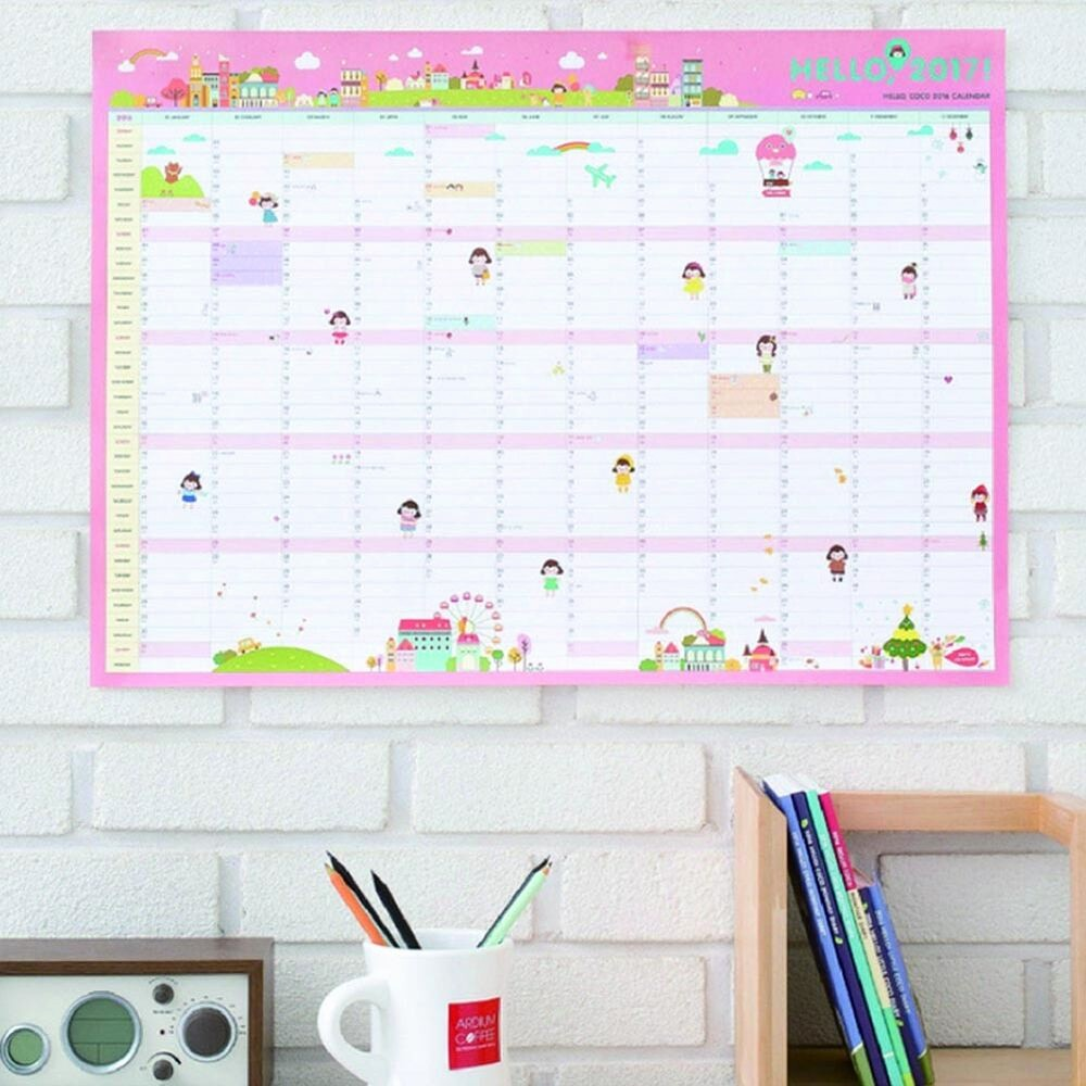 The Office Daily Calendar 2017 Unique 2017 Calendar Wall Planner Daily Schedule Fice Supplies