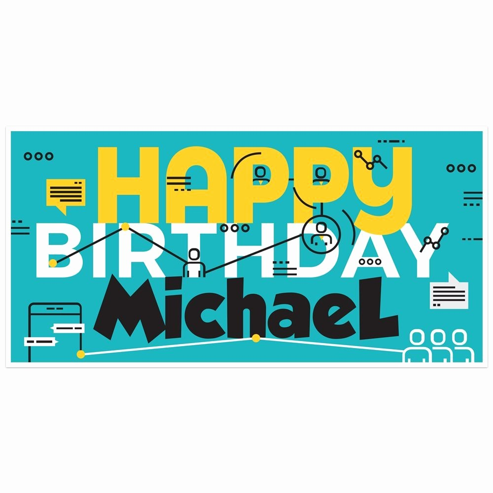 The Office Happy Birthday Sign Elegant Puter Tech Fice Birthday Banner Personalized Party