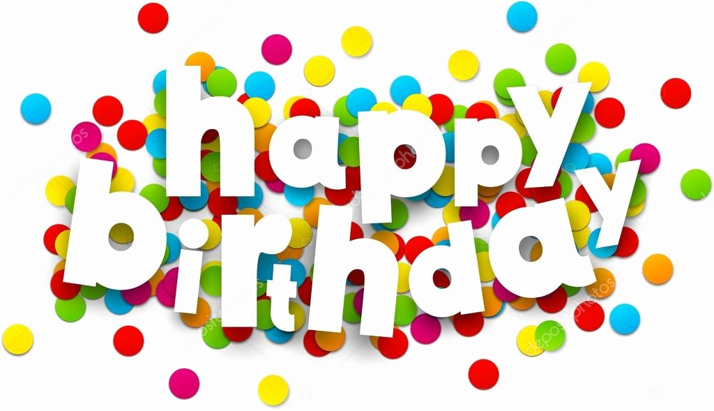 The Office Happy Birthday Sign Inspirational Paper Happy Birthday Confetti Sign — Stock Vector