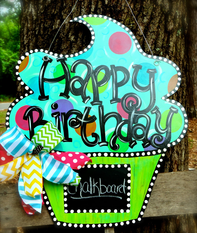The Office Happy Birthday Sign Luxury Happy Birthday Cupcake Door Hanger