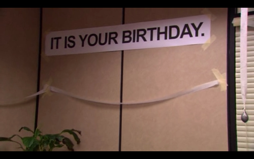 The Office Happy Birthday Sign Unique Dwight Schrute Birthday Quotes Quotesgram