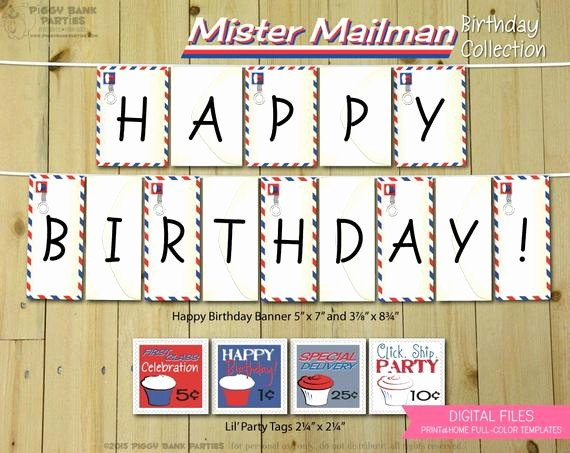 The Office Happy Birthday Sign Unique Mister Mailman Birthday Collection Print at Home Post Fice