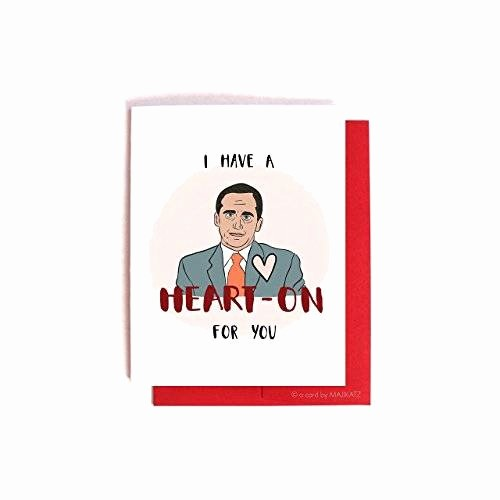 The Office Valentines Day Card Awesome Amazon Michael Scott Heart Funny Nerdy the Fice