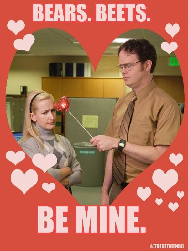 The Office Valentines Day Card Awesome Dwight & Angela the Fice the Fice