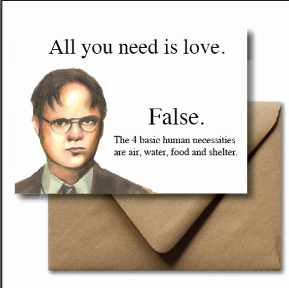 The Office Valentines Day Card Lovely Greeting Card Valentines Day Card Dwight Shrute the Fice
