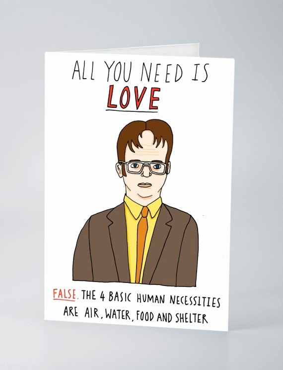 The Office Valentines Day Card New Dwight Schrute Valentines Card