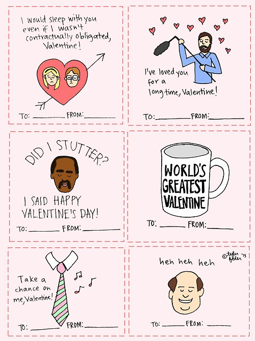 The Office Valentines Day Card Unique Work Place Quotes Valentines Quotesgram