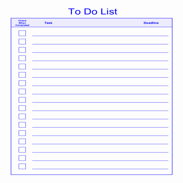 to do list template 2580