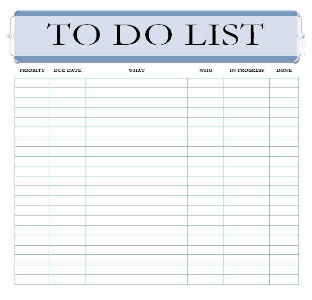 Things to Do Checklist Template Beautiful the Best to Do List Template Unleash Your Productivity