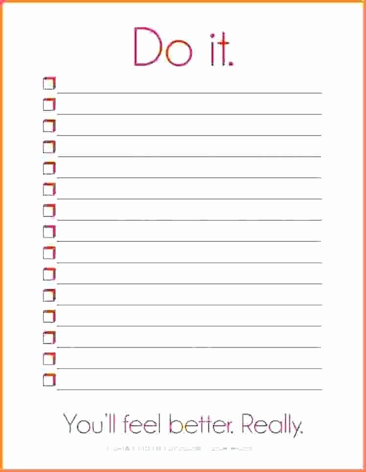 Things to Do Checklist Template Beautiful Things to Do List Templates Printable 50 States and
