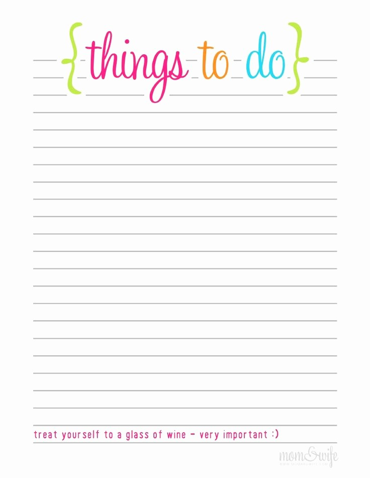 Things to Do Checklist Template Fresh the Gallery for Blank to Do List Printable