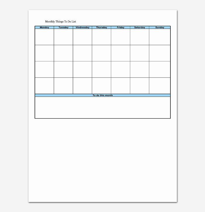 Things to Do Checklist Template Fresh Things to Do List Template 20 Printable Checklists