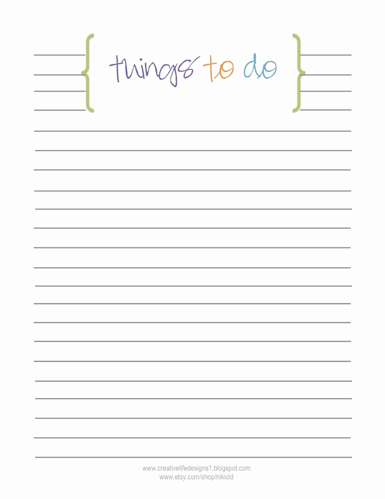 Things to Do Checklist Template Inspirational Creative Life Designs Free Printables