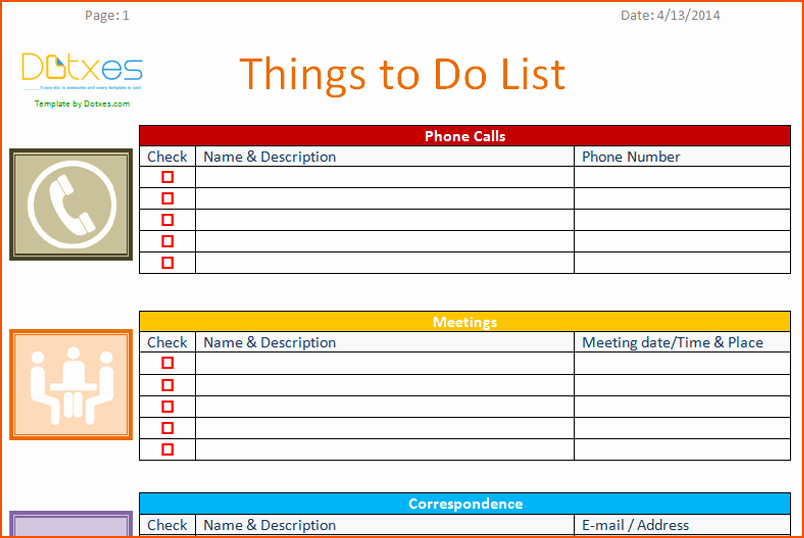 Things to Do Checklist Template Lovely 7 to Do Template Bookletemplate