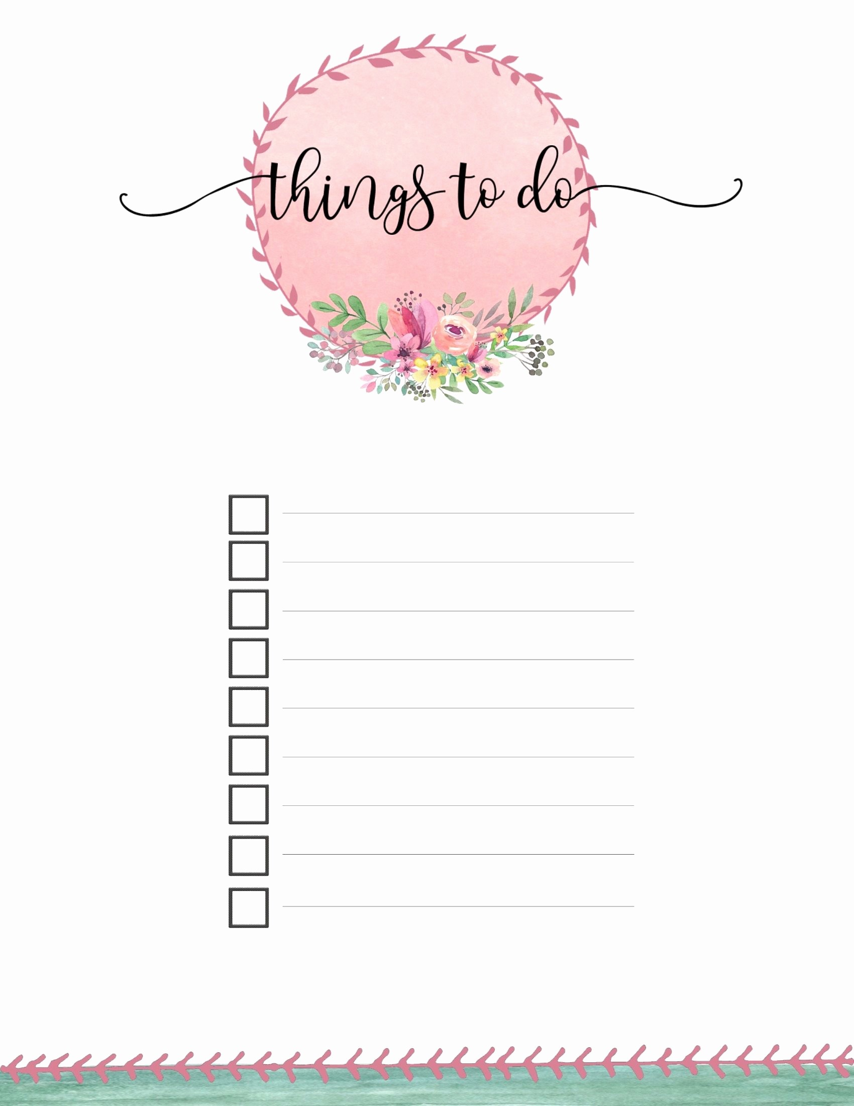 Things to Do Checklist Template Lovely Free Printable to Do List Templates