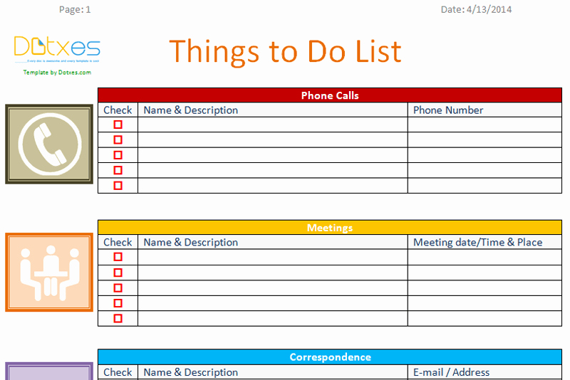 Things to Do Checklist Template Lovely to Do List Template Business Version Dotxes