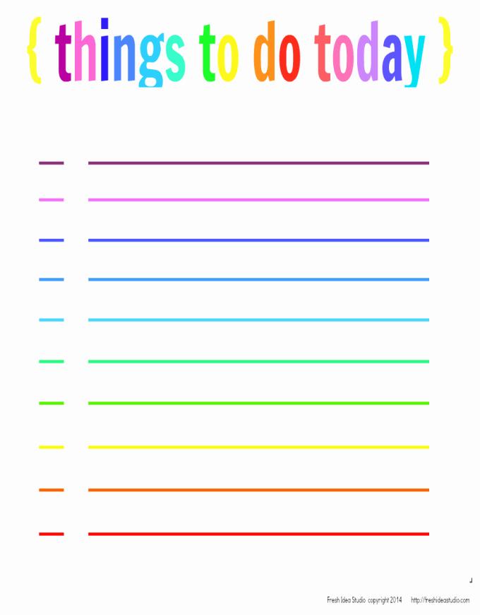 Things to Do List Printable Awesome Fresh Free Printables Fresh Idea Studio