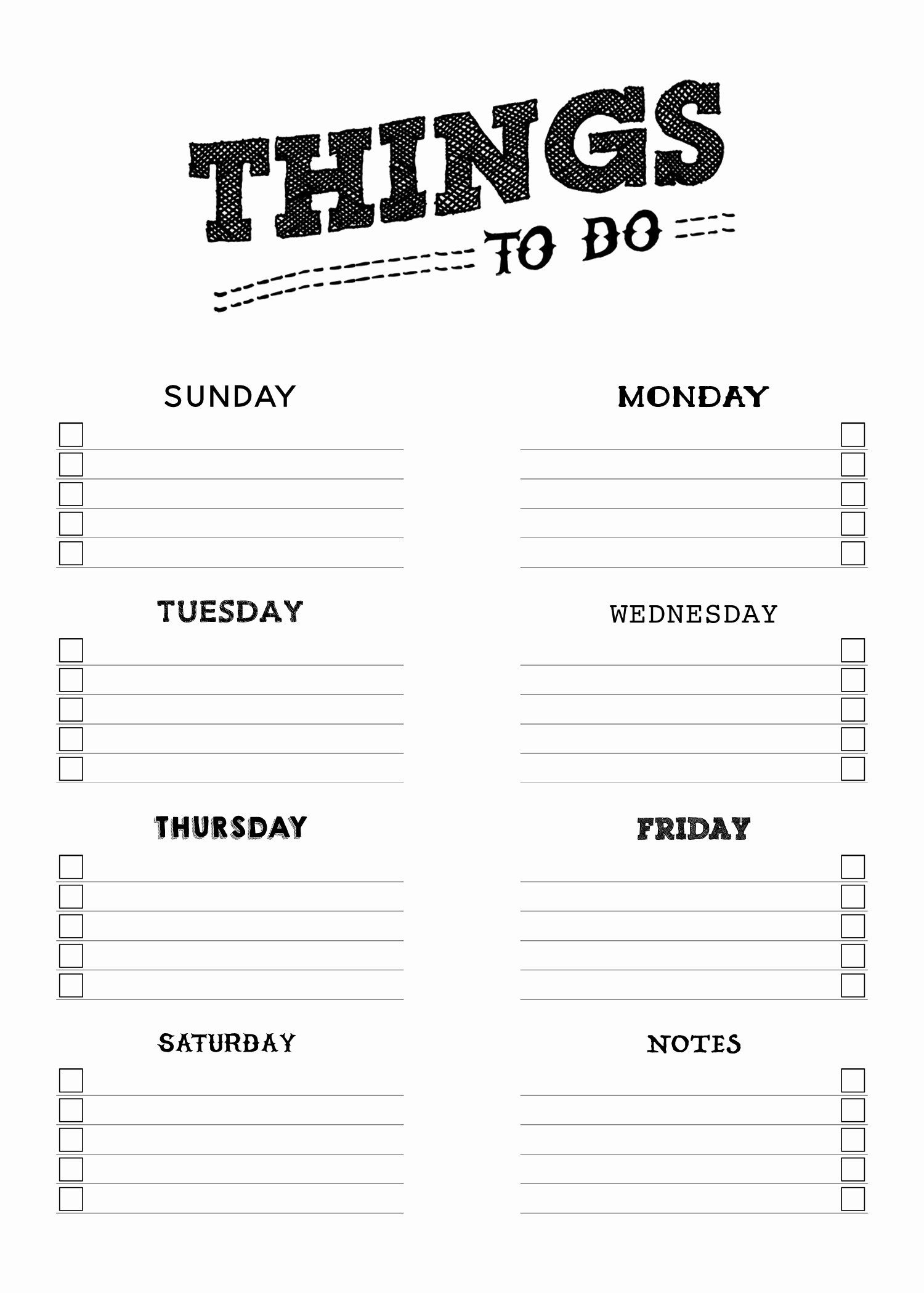 Things to Do List Printable Best Of Free Printable Things to Do List the Cottage Market