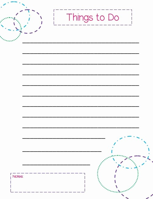 Things to Do List Printable Fresh Things to Do List A Colorful Circles themed Template