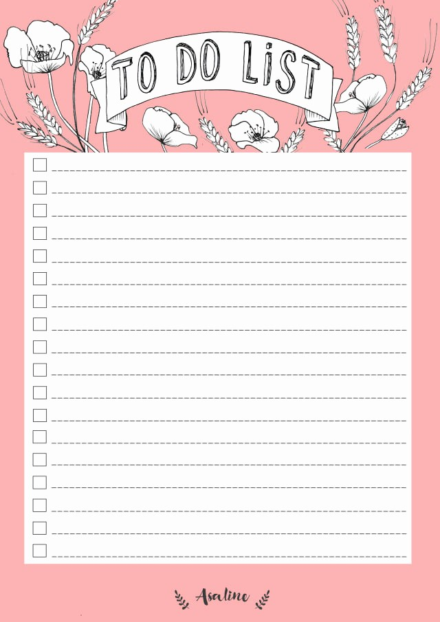 Things to Do List Printable Inspirational 10 to Do Lists as Pretty as they are Useful