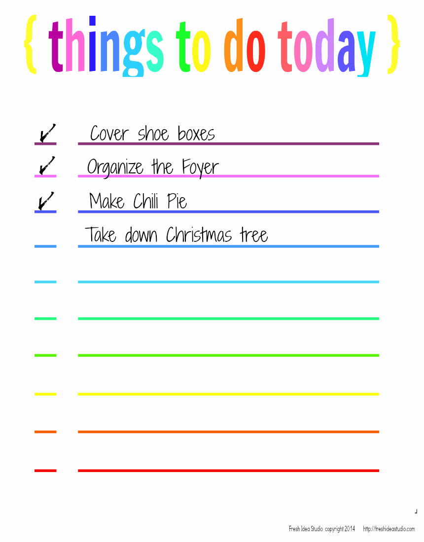 Things to Do List Printable Luxury 6 Best Of Things to Do Template Printable Things