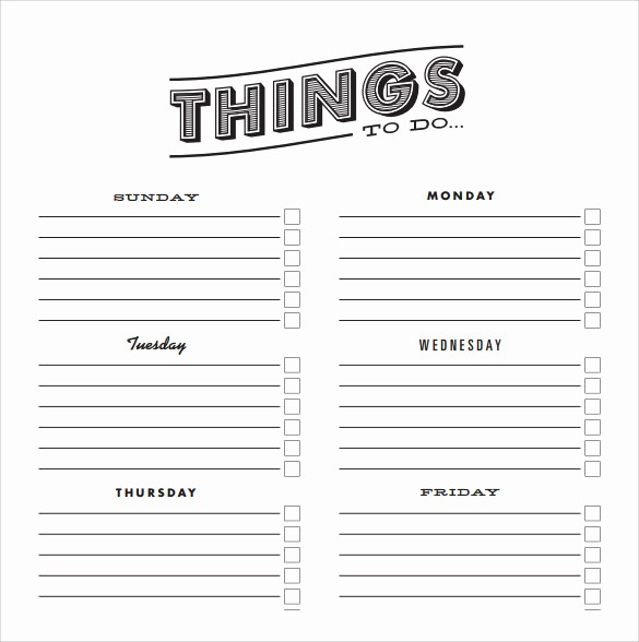 Things to Do Template Word Best Of 10 to Do Checklist Samples