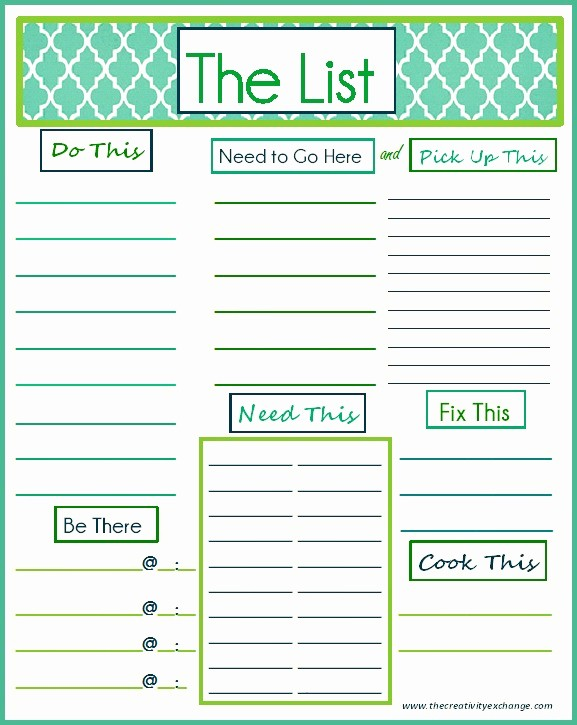 """Things to Do Template Word Elegant Free Printable """"to Do"""" List"""