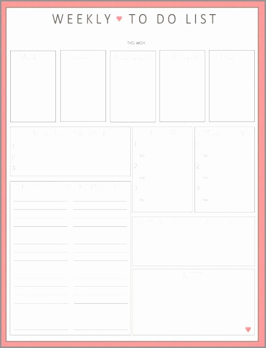 Things to Do Template Word Inspirational 10 Things to Do Sheet Template Miaek
