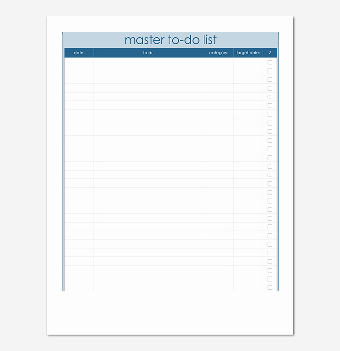 Things to Do Template Word New Things to Do List Template 20 Printable Checklists