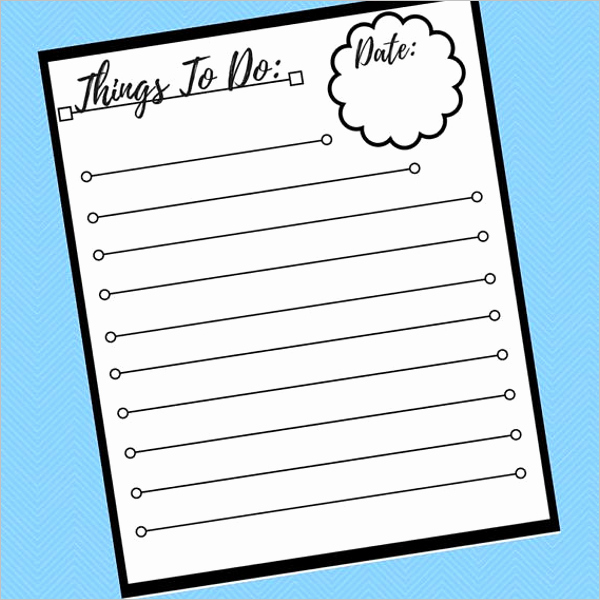 Things to Do Template Word Unique 83 to Do List Templates Free Pdf Excel Word Doc formats