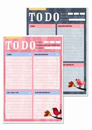 Things to Do today List Elegant Free Printable to Do List