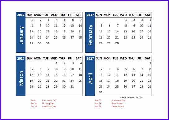 Three Month Calendar Template Excel Awesome 8 Month Calendar Template Excel Exceltemplates