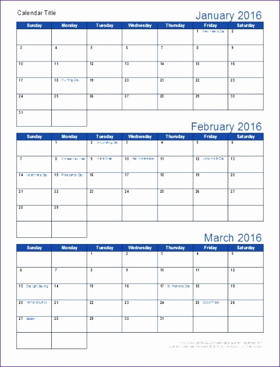 Three Month Calendar Template Excel Best Of 6 3 Month Calendar Template Excel Exceltemplates