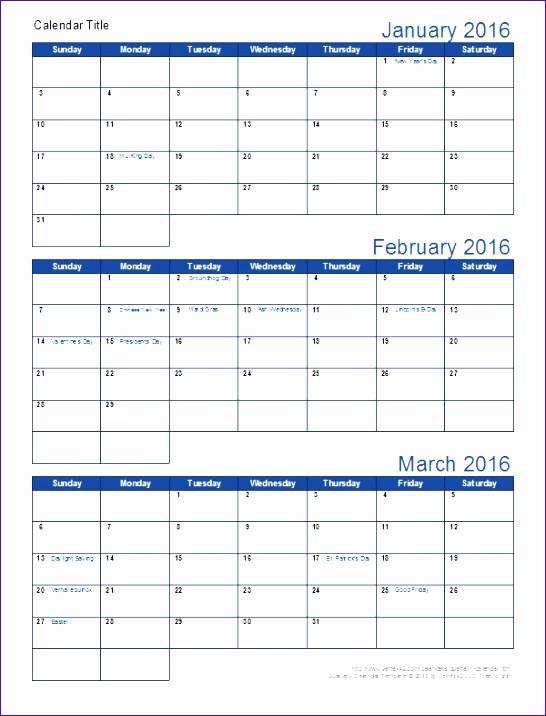 Three Month Calendar Template Excel Best Of 6 3 Month Calendar Template Excel Exceltemplates