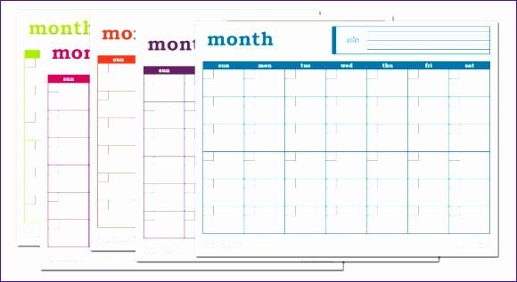Three Month Calendar Template Excel Fresh 12 Monthly Calendar Excel Template Exceltemplates