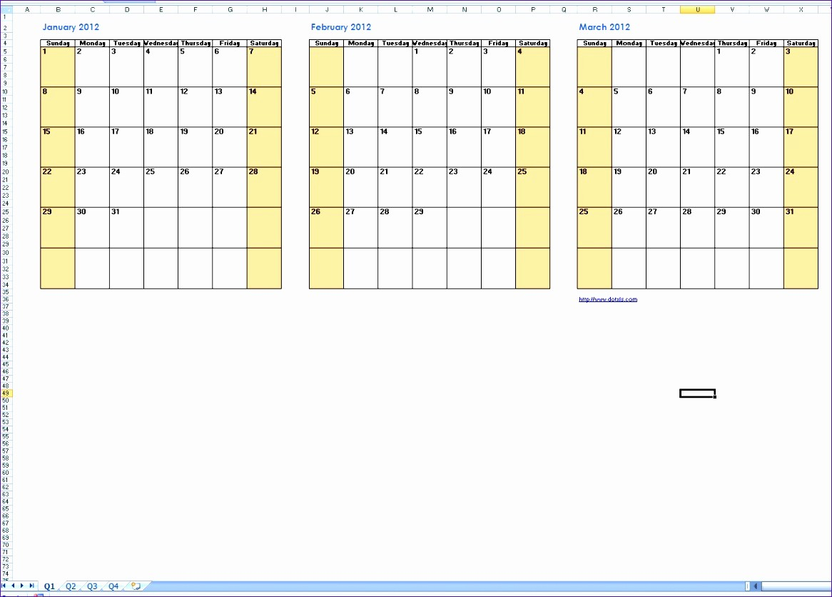 Three Month Calendar Template Excel Lovely 6 3 Month Calendar Template Excel Exceltemplates