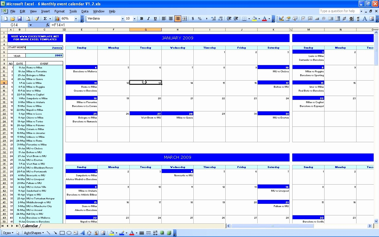 Three Month Calendar Template Excel Lovely Monthly Bud Calendar Excel